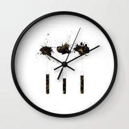 Poppy ink explosion Wall Clock