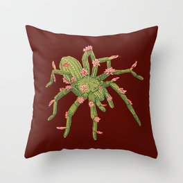 Tarantula Cactus Throw Pillow