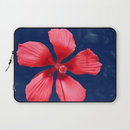 Hibiscus on Blue Laptop Sleeve