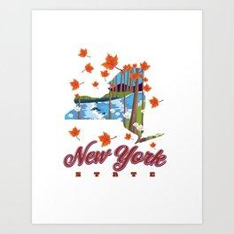 New York State map Art Print