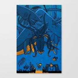 Falling (Deep Sea) Canvas Print