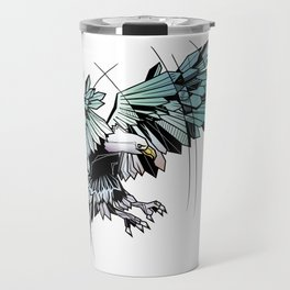 Geometric eagle Travel Mug