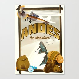 """Andes """"For Adventure!"""", Canvas Print"""