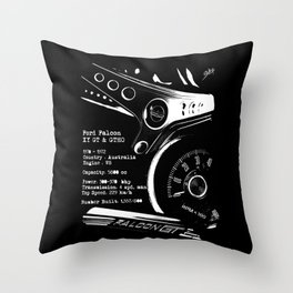Ford Falcon XY GT & GTHO (specifications) Throw Pillow