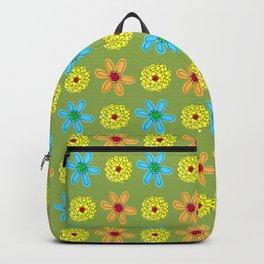 Groovy 70's Flower Power Backpack