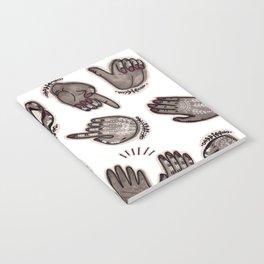 hand gestures and white henna tattoo Notebook