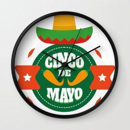 Cinco De Mayo Party Cinco De Mayo Costume Wall Clock