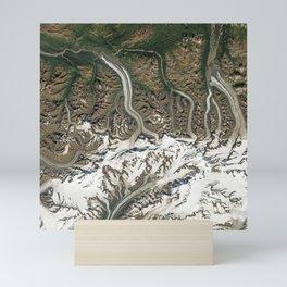 Chugach Mountains Glaciers, Alaska Mini Art Print