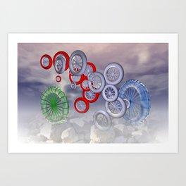 rolling reels Art Print