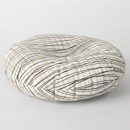 Line Art - Gold and Black Lines on White - Mix and Match with Simplicty of Life Floor Pillow