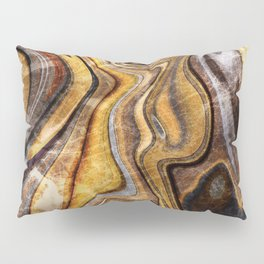 Tiger's Eye gemstone pattern Pillow Sham