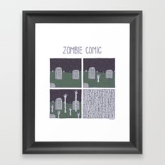 Zombie Comic Framed Art Print