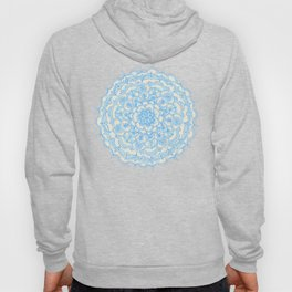 Pale Blue Pencil Pattern - hand drawn lace mandala Hoody