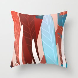 Paintbrush Leaves Throw Pillow