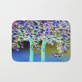 In a Blue and Purple World Bath Mat
