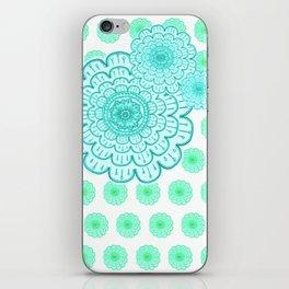 seafoam & blueeeey iPhone Skin