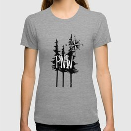PNW Trees & Compass T-shirt