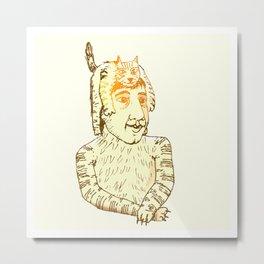 Gat i homegat /cat and mancat Metal Print