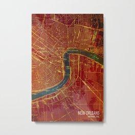 New Orleans 1932 old map Metal Print