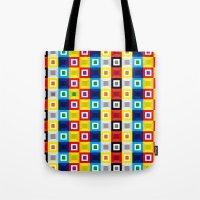 Squares Pattern Tote Bag