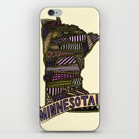 minnesota iPhone & iPod Skins featuring Minnesota! by Colora + Co.