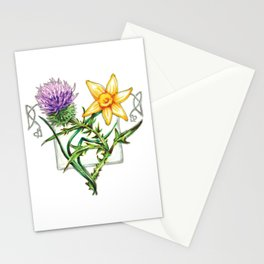 Thistle and Daffodil Stationery Cards