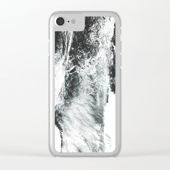 Abstract ocean Clear iPhone Case