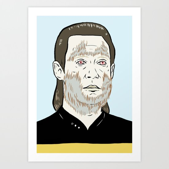Data Wolf Art Print