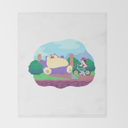 Teeny Tiny Worlds - Route 12 Throw Blanket