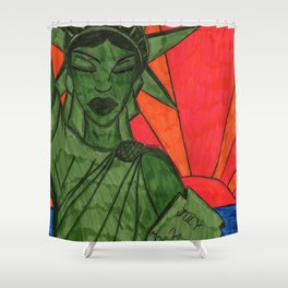 Liberty on Break Shower Curtain