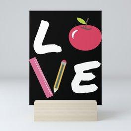 Love Teaching Gift Back To School 100 Days Teacher Mini Art Print