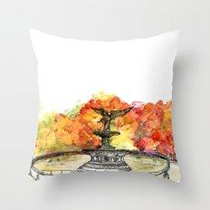 Central Park: Bethesda Fountain Throw Pillow