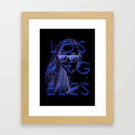 LOS ANGELES SUN Framed Art Print