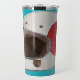 Bell Bullitt Cafe Racer Helmet Polygon Art Travel Mug