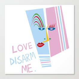 LOVE DISARM ME (MATISSE INSPIRATION) Canvas Print