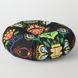 Traditional Serbian art  Floor Pillow