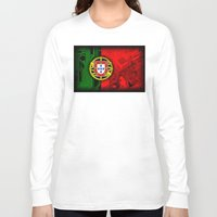 portugal Long Sleeve T-shirts featuring circuit board Portugal (Flag) by seb mcnulty