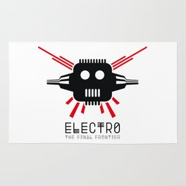 Electro - The Final Frontier - for light backgrounds only Rug