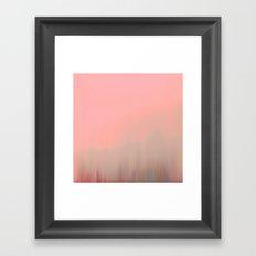 Coral Fog Framed Art Print