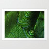 malachite Art Prints featuring Malachite by Vix Edwards - Fugly Manor Art