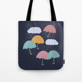 Colorful Rainy Day Tote Bag