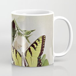 Vintage Butterflies in Nature Illustration (1899) Coffee Mug
