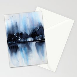 Blue Tree Reflections Stationery Cards