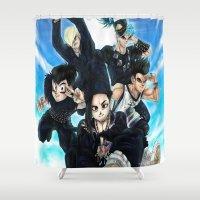 dbz Shower Curtains featuring + BigBangZ + by MitsuBlinger