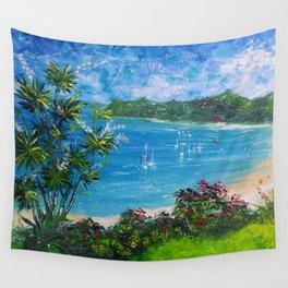 Sunny Bay - I love New Zealand Summers Wall Tapestry