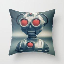 Weird robot Throw Pillow