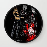 avenger Wall Clocks featuring Avenger Mother by Alessandro Turetta
