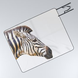 Zebra portrait Picnic Blanket