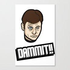 Dammit!! Canvas Print