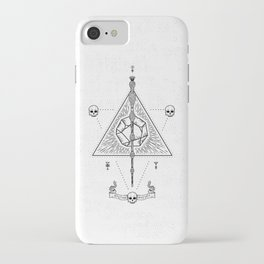Deathly Hallows (White) iPhone Case